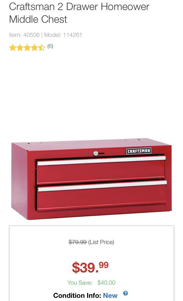 Craftsman Tool Box * Intermediate Tool Cabinet for Sale in Hollywood, FL -  OfferUp