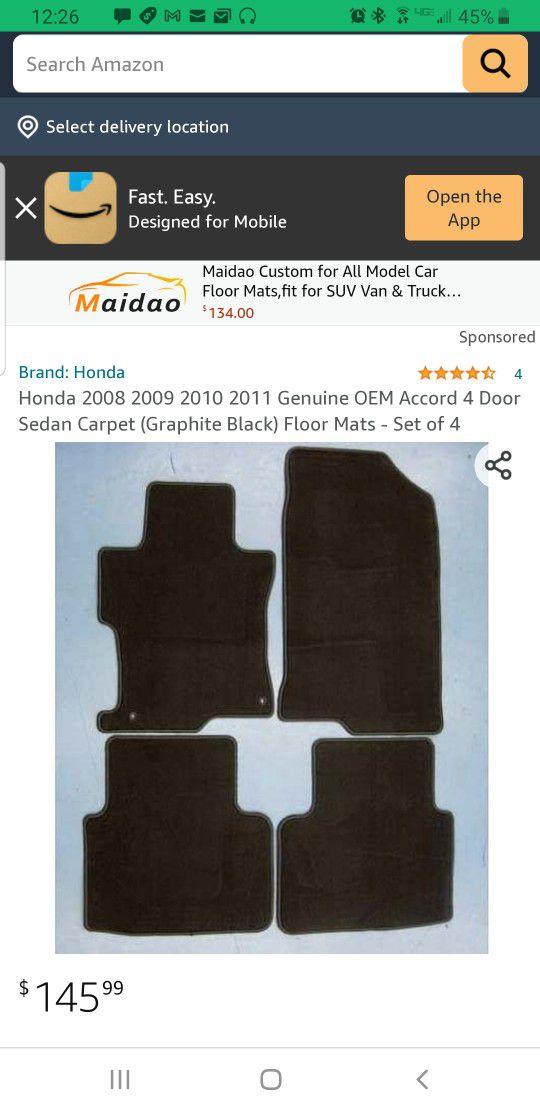 Honda Accord All Weather Floor Mats