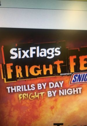2 Fright Fest tickets with free parking for Sale in Franklin Park, IL