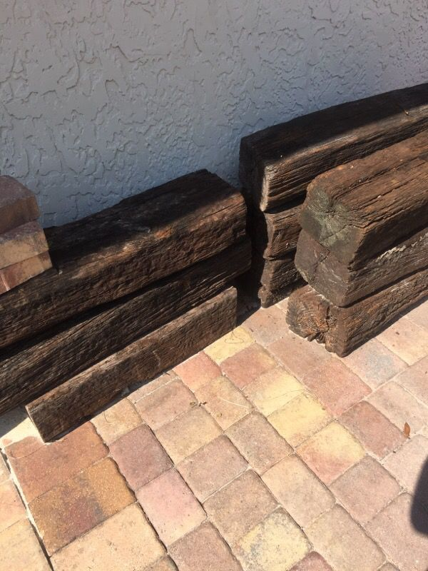 Free railroad ties used for border for Sale in Tampa, FL - OfferUp