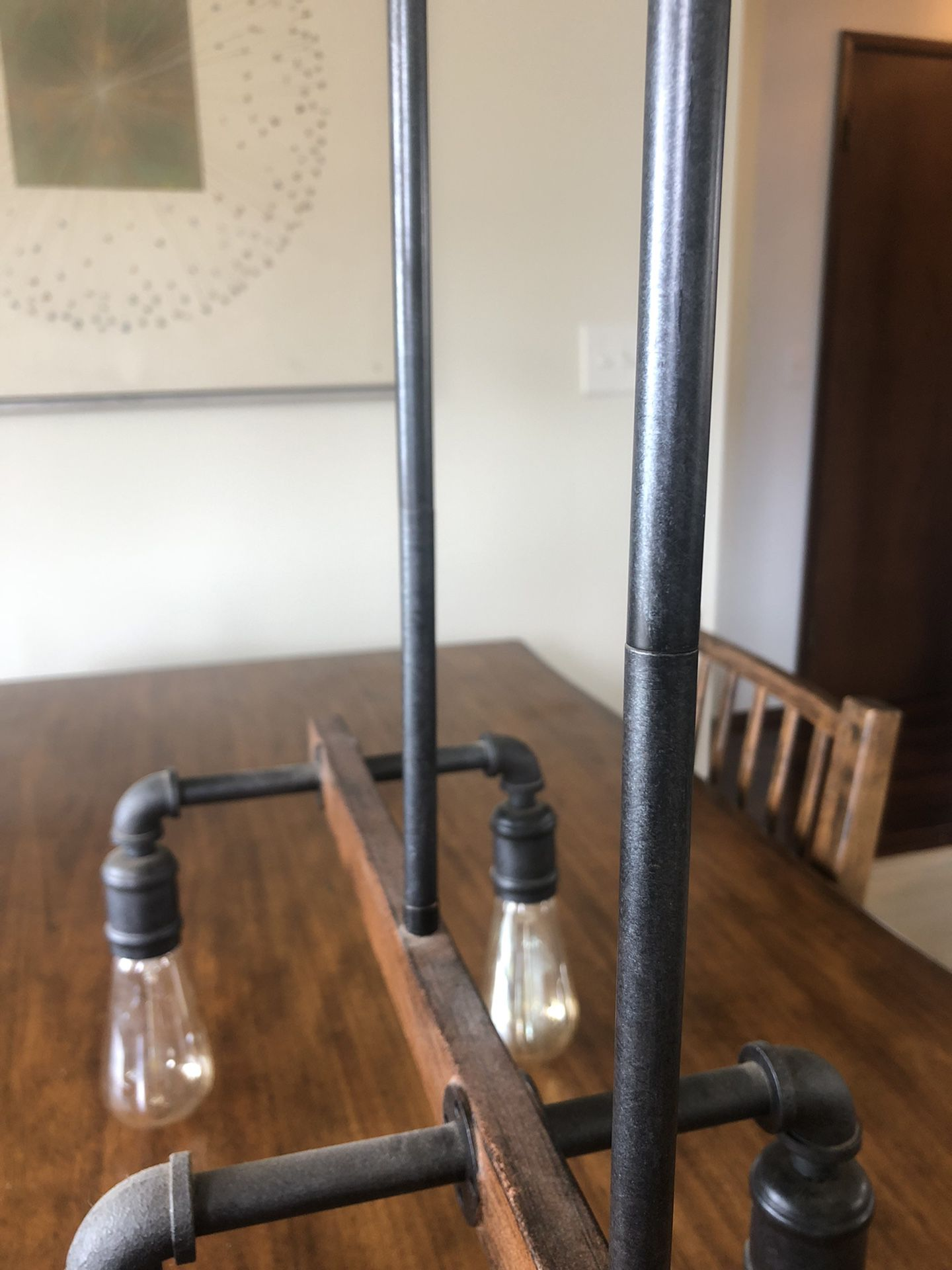 Industrial Ceiling light / Chandelier (dimmable LEDs Included)