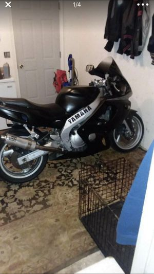 97 Yamaha yzf600 , runs very strong, few upgrades. Brand new tires , battery, all fluids changes. Bike really needs nothing but a front rotor an chai for Sale in Montgomery Village, MD