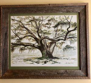LEE ADAMS Signed w/ Seal 1970 Limited Ed No 262 Framed Bartrum Oak Tree for Sale in Bradenton, FL