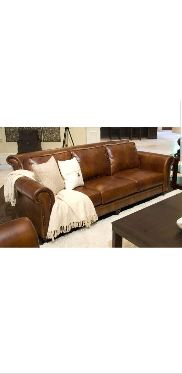 Paladia Leather Sofa Or Couch By Elements Fine Home Furnishing