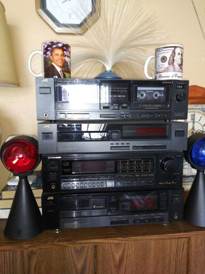 Stereo System with TWO SPEAKERS (Receiver/Cassette/CD Player) for Sale in Washington, DC