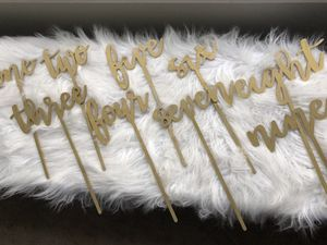 Gold painted table numbers for Sale in Delray Beach, FL