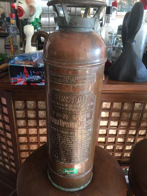 1920's Copper Fire Extinguisher for Sale in Chicago, IL