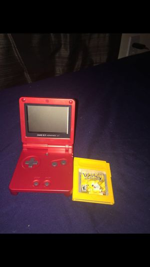 Gameboy advance sp + Pokémon yellow version(don't have a charger) does work though for sale  Tulsa, OK