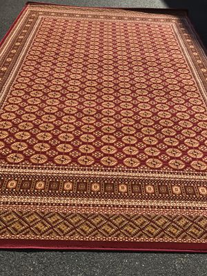 Brand new bokhara design area rug size 8x11 nice red carpet Afghan or Persian style rugs for Sale in Arlington, VA