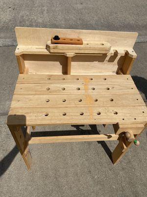 Photo Real Wooden Toddler Tool Bench with Tools