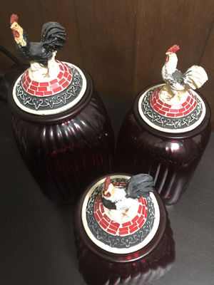Rooster Canister 3pc Set w S&P Shakers for Sale in Lansing, MI