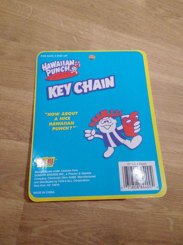 Vintage 1990s Hawaiian Punch Keychain