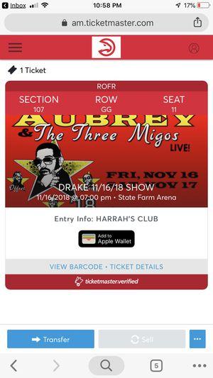 Drake/ Migos Concert - One Club Level Ticket for Sale in Atlanta, GA