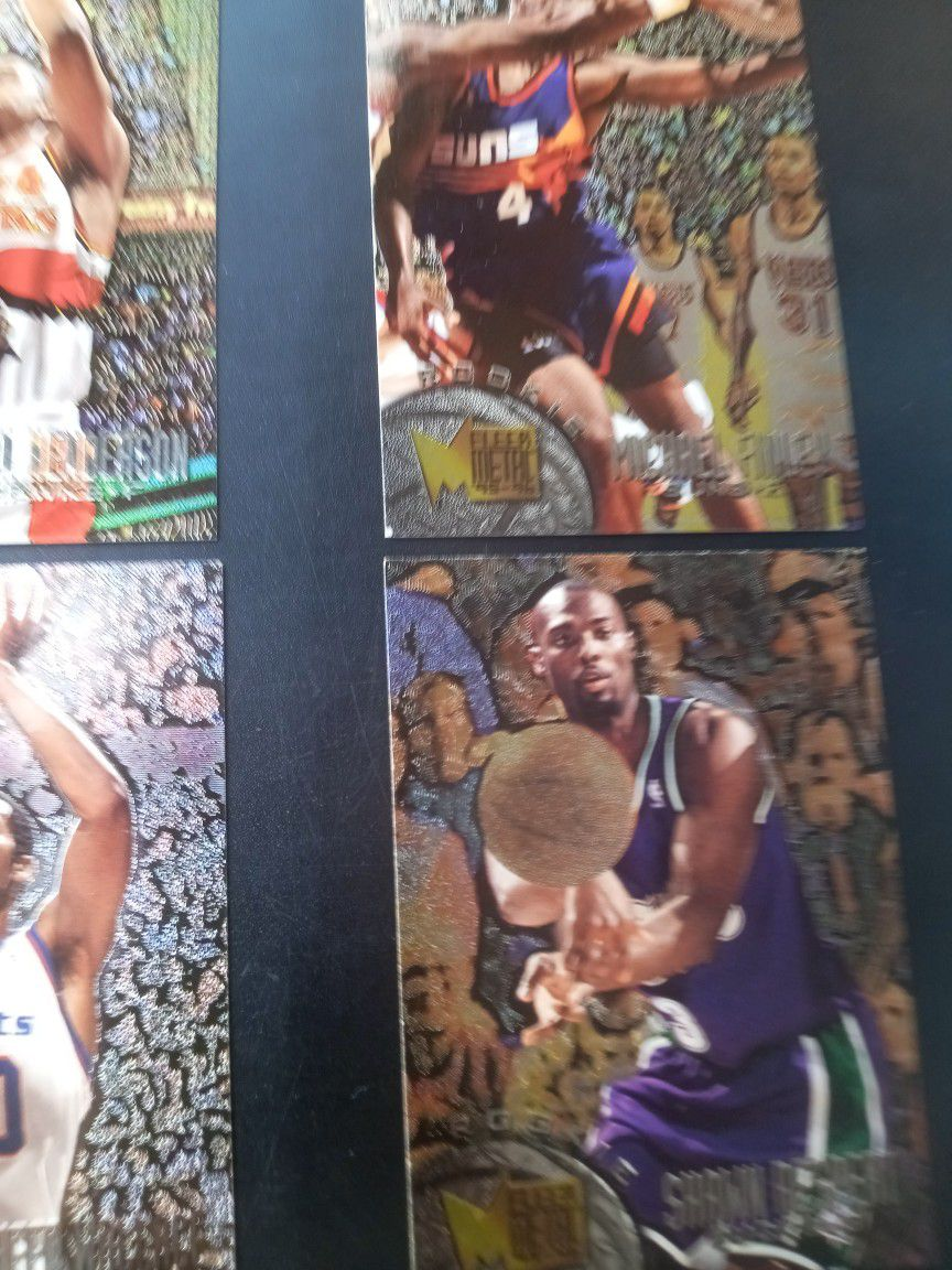 ROOKIE CARDS : Alan Henderson, Michael Finley, Rasheed Wallace And Shawn Respert