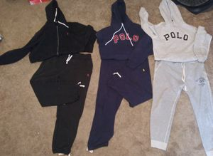 Polo Ralph Lauren authentic sweat suits.. $100 per set or buy by the piece for $50 for Sale in Oxon Hill, MD