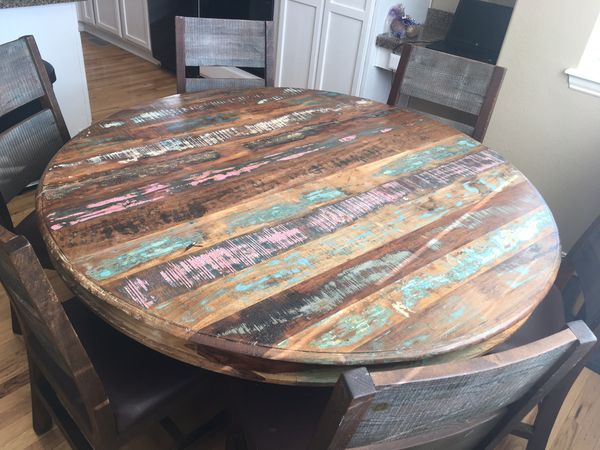 Brilliant Gorgeous Rustic Mexican Kitchen Table W 6 Chairs For Sale In Thornton Co Offerup Bralicious Painted Fabric Chair Ideas Braliciousco