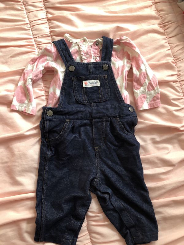 6ed9140b94 Baby girl overalls outfit for Sale in Chula Vista