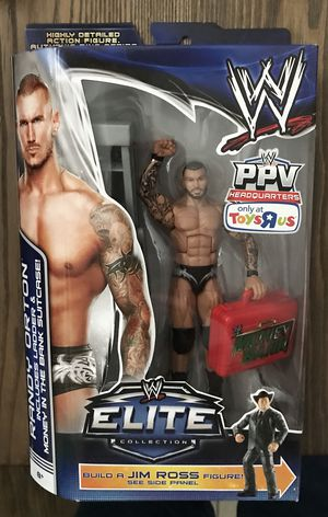 WWE Elite Collection Randy Orton (Build a Figure Jim Ross) Toys R U Exclusive for Sale in Phoenix, AZ