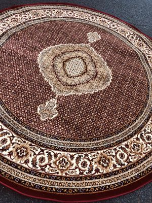 Brand new round rug size 8x8 nice red carpet circle Persian design rugs for Sale in Burke, VA