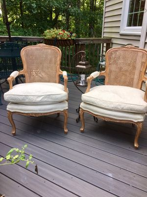 Vintage Bergere Chairs for Sale in Burke, VA