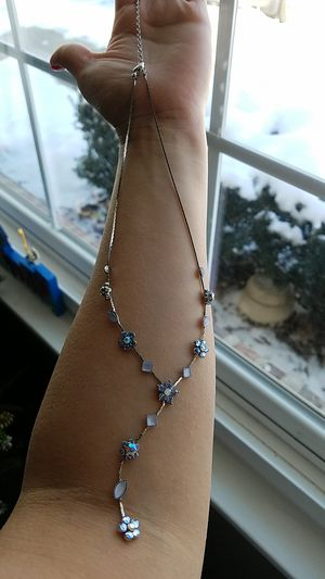 Baby blue charm necklace for Sale in Joliet, IL