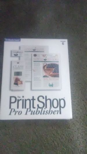 The print shop pro publisher for Sale in Federal Way, WA