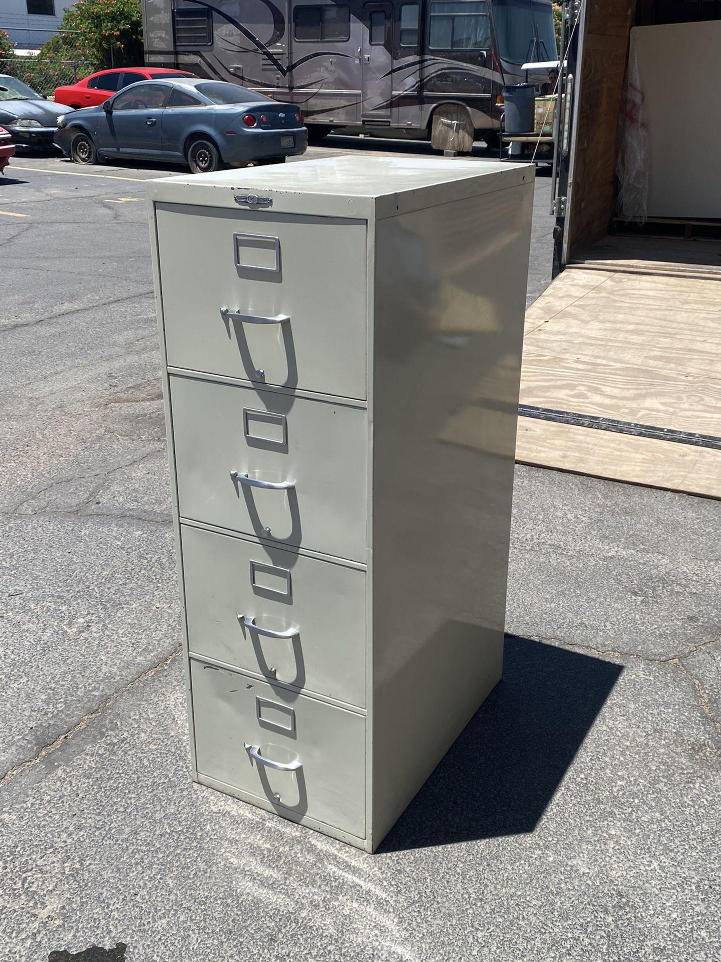 4 Drawer Metal File Cabinet - $35