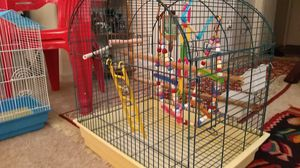 Bird cage and toys $150 obo for Sale in Dulles, VA
