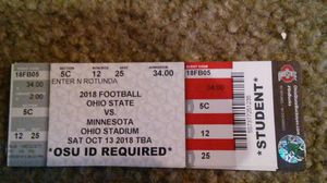 OSU vs Minnesota football game for Sale in Columbus, OH