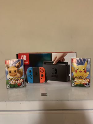 Nintendo Switch/ Pokemon lets go Eevee and lets go Pikachu for Sale in Frederick, MD