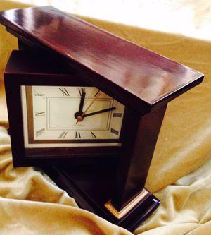 Decorative wood desk clock for Sale in Chandler, AZ
