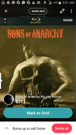 Sons of Anarchy Blu-ray movie $25 for Sale in Pittsburgh, PA