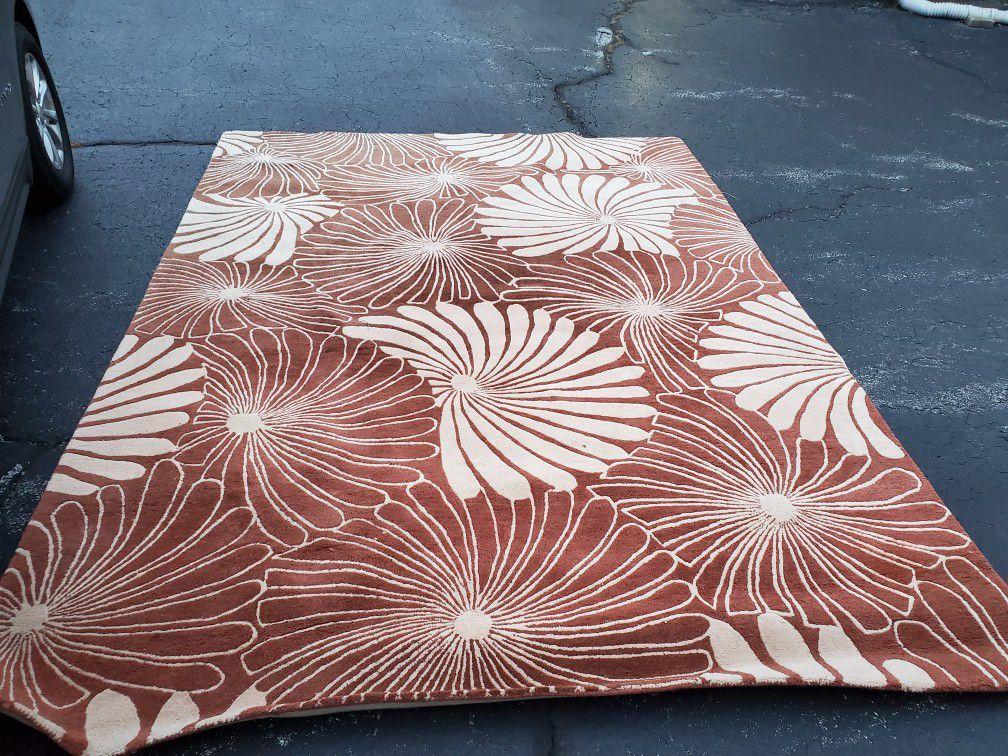 Large heavy decorative carpet