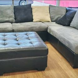 Jacurso Charcoal LAF SectionalAshley ❤️ ❤️& couch, living room, sofa👍 Thumbnail