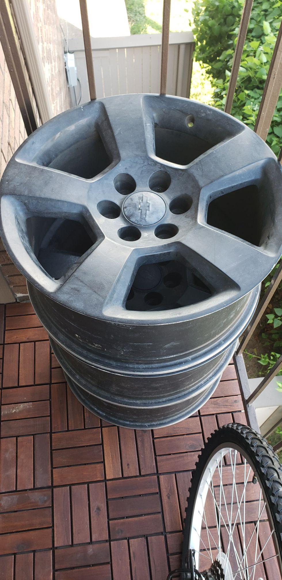 "20"" Chevy Factory Wheels Matte Black"