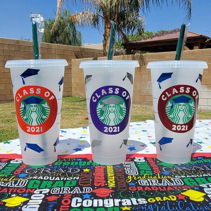 Custom Starbucks Graduation Cups