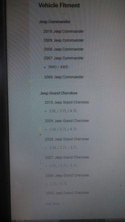 2006-2010 jeep commander. 2005-2010 keep grand Cherokee left and right keep struts Thumbnail