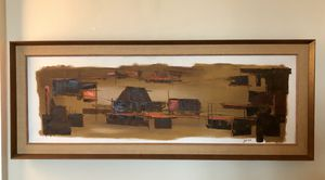 "Mid-Century Painting 42 1/2"" x 16 3/4"" for Sale in Washington, DC"