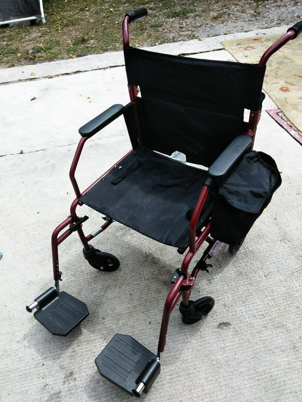 Walgreens Burgundy Wheelchair with Legs for Sale in Miami, FL - OfferUp