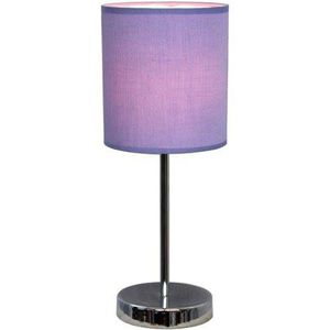 """Simple Designs Chrome Mini Basic Table Lamp with Fabric Shade 11.5"""" for Sale in Trinity, NC"""