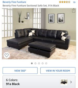 Peachy New And Used Black Sectional For Sale In Lynn Ma Offerup Machost Co Dining Chair Design Ideas Machostcouk