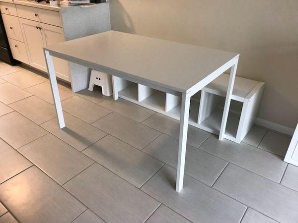 Ikea Melltorp Table Kallax Shelf And One Drawer Insert