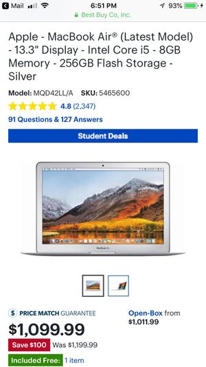 Apple - MacBook Air Silver 2017 for Sale in Springfield, VA