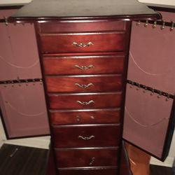 Cherry Wood Cabinet/Jewelry & Trinket Box Thumbnail