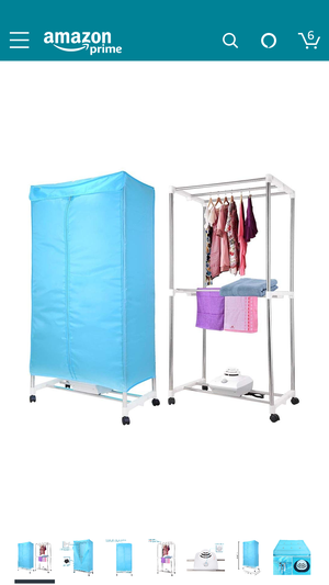 Yescom Portable Electric Clothing Dryer Rack 1000W Heater Wardrobe Drying Rack Home for Sale in Washington, DC