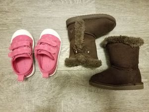 Size 5 toddler shoes and boots for Sale in Gaithersburg, MD