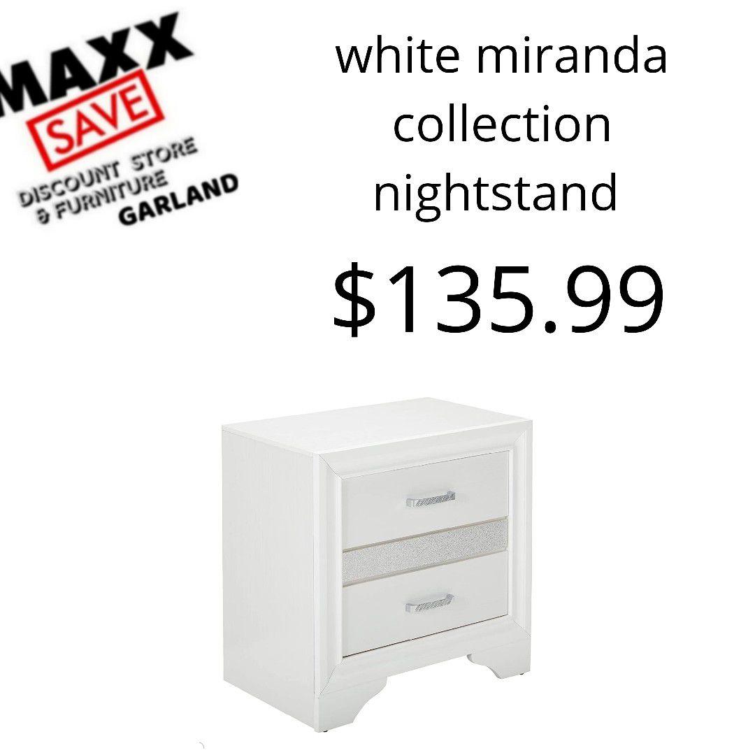White miranda collection nightstand