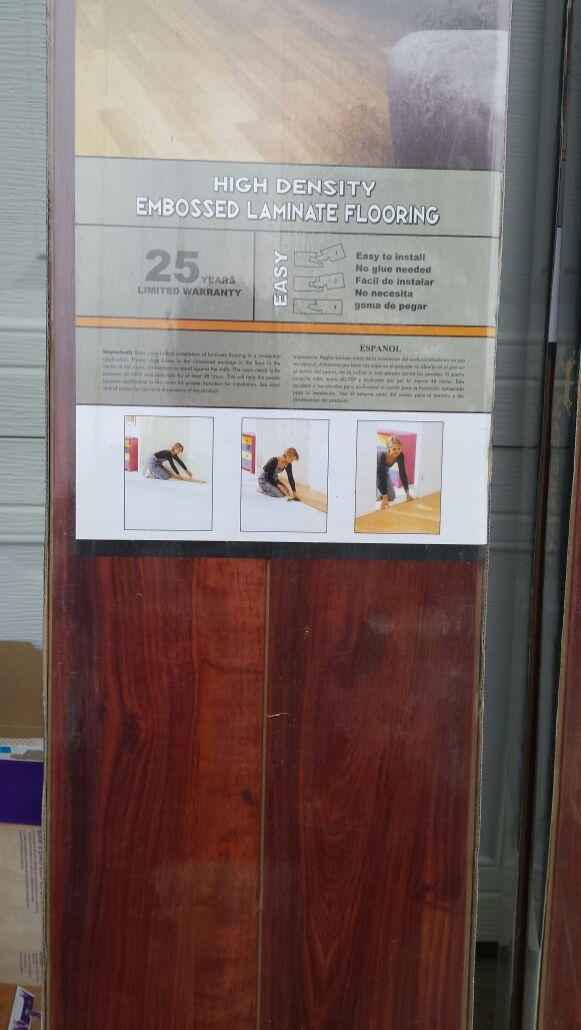 Kingsmen Laminate Flooring4 Boxes Plus Roll Of Padding For Sale