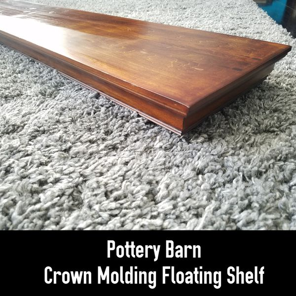 Pottery Barn Crown Molding Shelf Hanging Bracket Included