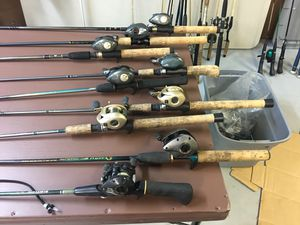 Photo Bait casting rods and reels